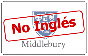 no-English at Middlebury