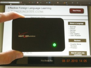 Mobile wi-fi box from Verizon