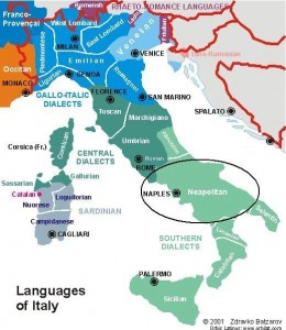 Languages of Italy Map