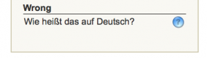 How much in German.