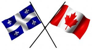 Quebec and Canadian Flags