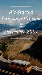Language101.com start December 2007