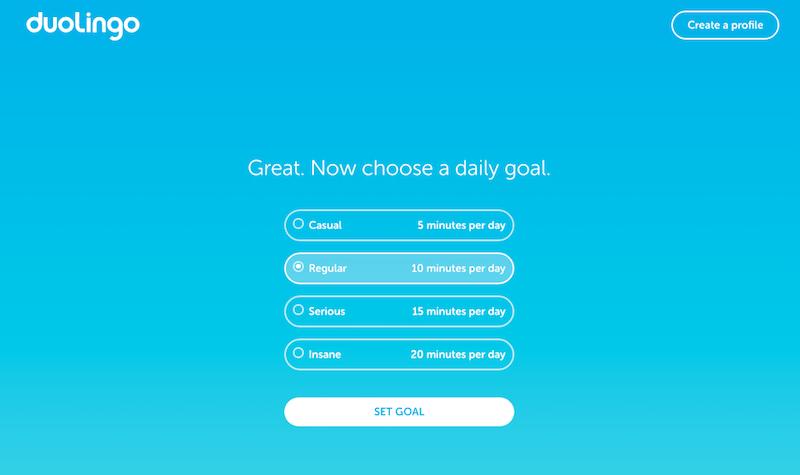 Duolingo daily goal image