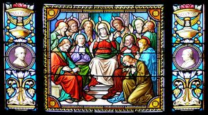 Pentecost - stained glass.